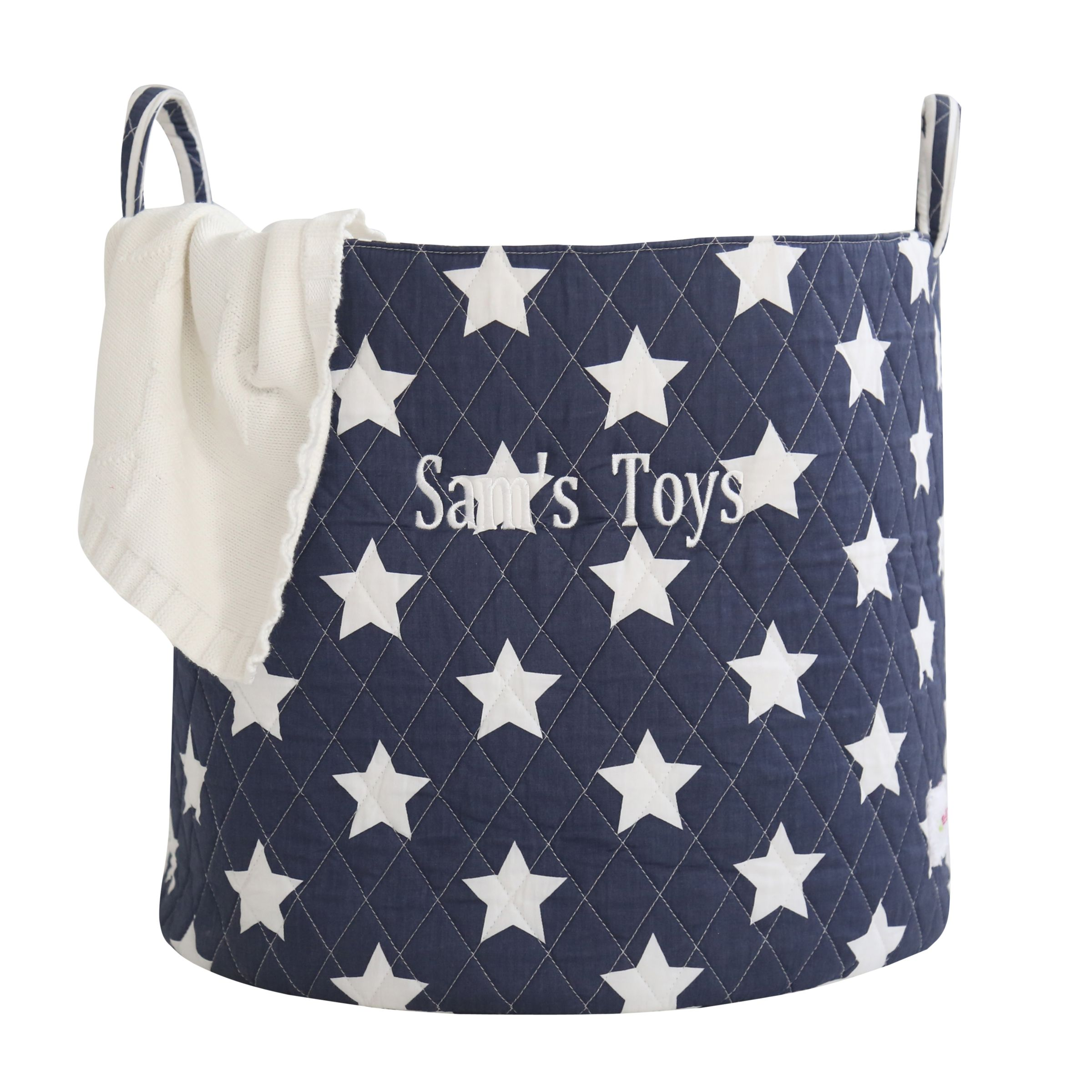 My 1st Years My 1st Years Personalised Star Storage Bag, Navy