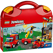 Buy LEGO Juniors 10740 Fire Patrol Suitcase Online at johnlewis.com