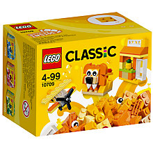 Buy LEGO Classic 10709 Creative Bricks, Orange Online at johnlewis.com