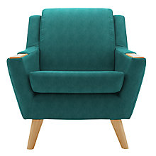 Buy G Plan Vintage The Fifty Five Armchair, Light Leg, Teal Online at johnlewis.com