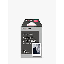 Buy Fujifilm Instax Mini Monochrome Film, 10 Shots Online at johnlewis.com