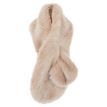 Buy Coast Luella Longline Faux Fur Scarf, Blush Online at johnlewis.com