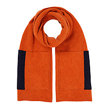 Buy Jigsaw Shona Scarf With Contrast Pockets, Navy Online at johnlewis.com