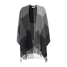 Buy Warehouse Check Pattern Cape, Grey Online at johnlewis.com