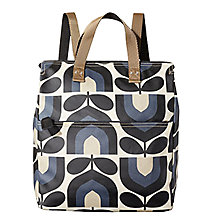 Buy Orla Kiely Stripe Tulip Canvas Backpack, Dusk Blue Online at johnlewis.com