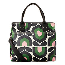 Buy Orla Kiely Stripe Tulip Messenger Bag, Green Online at johnlewis.com
