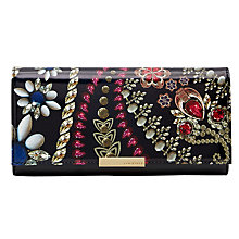 Buy Ted Baker Kaleigh Matinee Fold Over Purse, Black Online at johnlewis.com