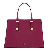 Buy Ted Baker Alissaa Leather Tote Bag, Grape Online at johnlewis.com