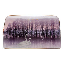 Buy Ted Baker Conilia Sparkling Swan Print Wash Bag, Straw Online at johnlewis.com