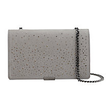 Buy Ted Baker Avianna Studded Across Body Chain Strap Evening Bag, Grey Online at johnlewis.com