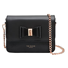Buy Ted Baker Camilah Leather Across Body Bag, Black Online at johnlewis.com