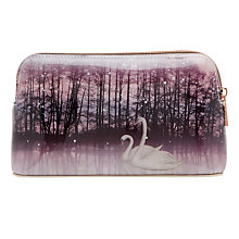 Buy Ted Baker Loisa Sparkling Swan Print Makeup Bag, Straw Online at johnlewis.com