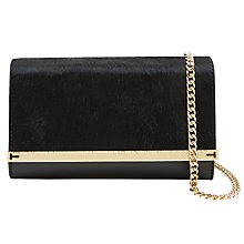 Buy Ted Baker Liliana Across Body Chain Strap Clutch Bag, Black Online at johnlewis.com