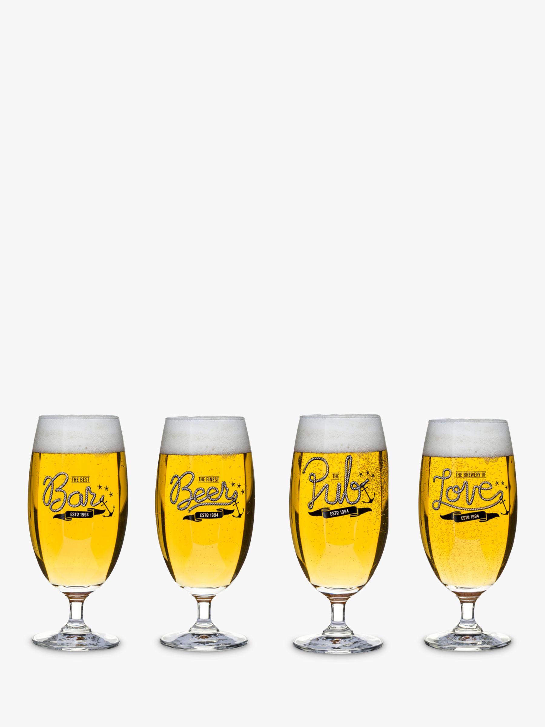 Sagaform Sagaform Beer Glass, Set of 4