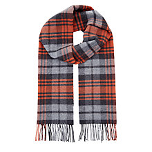 Buy Jaeger Wool Cashmere Highlight Check Scarf, Fox Online at johnlewis.com