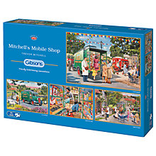 Buy Gibsons Mitchell's Mobile Shop Jigsaw Puzzle, 4 x 500 pieces Online at johnlewis.com