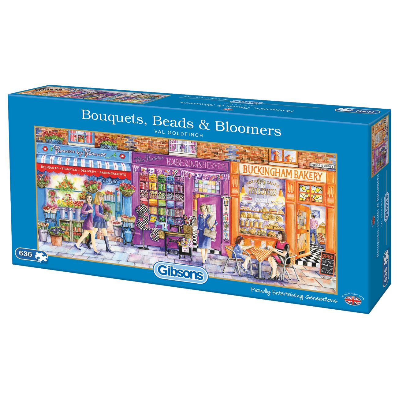 Gibsons Gibsons Bouquets, Beads & Bloomers Jigsaw Puzzle, 636 pieces