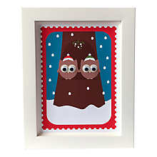 Buy Stripey Cats Limited Edition Christmas Owls Framed Print Online at johnlewis.com
