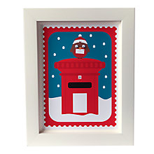 Buy Stripey Cats Limited Edition Christmas Robin Framed Print Online at johnlewis.com