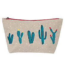 Buy John Lewis Cactus Large Wash Bag Online at johnlewis.com