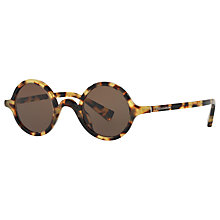 Buy Dolce & Gabbana DG4303 Round Sunglasses, Tortoise/Dark Brown Online at johnlewis.com