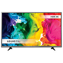 "Buy LG 65UH615V LED HDR 4K Ultra HD Smart TV, 65"" with Freeview HD & Metallic Design Online at johnlewis.com"