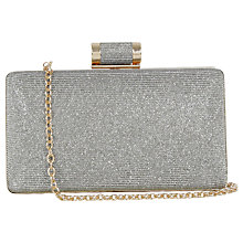 Buy Oasis Holly Box Clutch Bag, Gold Online at johnlewis.com