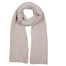 Buy Oasis Knitted Sequin Scarf Online at johnlewis.com