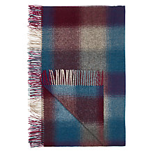Buy Bronte by Moon Midnight Check Herringbone Throw Online at johnlewis.com