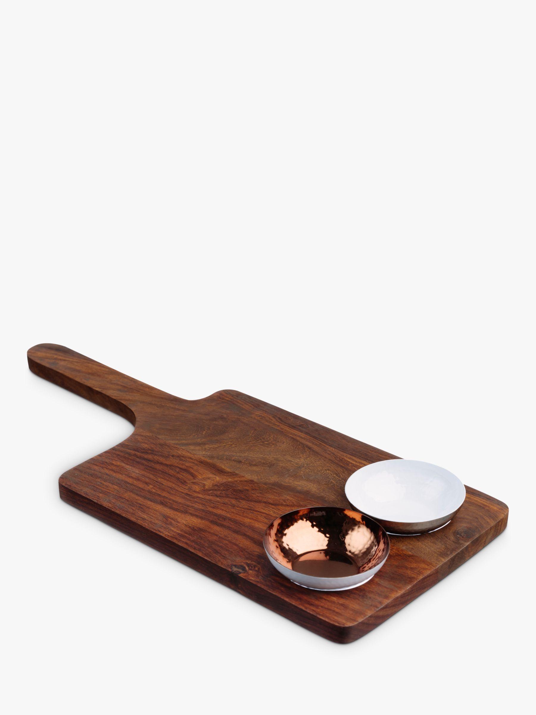 Just Slate Just Slate Sheesham Wood Serving Board & Bowl Set