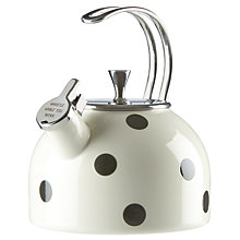 Buy kate spade new york Spot Stovetop Kettle, Black / White Online at johnlewis.com
