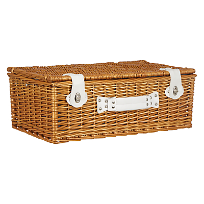 Image of MissPrint 4 Person Fern Hamper, Aqua