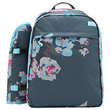 Buy Joules Grey Floral Filled Rucksack, 4 Person Online at johnlewis.com