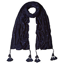 Buy White Stuff Aari Scarf, Navy Online at johnlewis.com