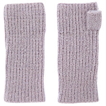 Buy Mint Velvet Ribbed Knit Hand Warmers, Lilac Online at johnlewis.com