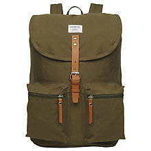 Buy Sandqvist Roald Ground Backpack, Olive Online at johnlewis.com