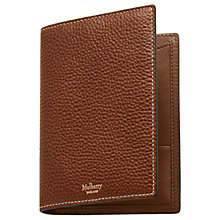 Buy Mulberry Natural Grain Leather Passport Wallet, Oak Online at johnlewis.com