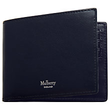 Buy Mulberry Eight Card Smooth Calf Skin Leather Wallet, Mid Blue Online at johnlewis.com