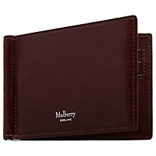 Buy Mulberry Smooth Calf Leather Money Clip Wallet, Oxblood Red Online at johnlewis.com