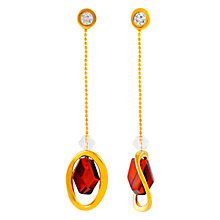 Buy Be-Jewelled Amber and Cubic Zirconia Chain Drop Earrings, Gold Online at johnlewis.com