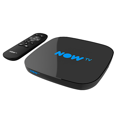NOW TV Smart TV Box with Pause & Rewind, with 3 Month Entertainment Pass, Black