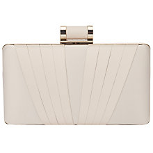 Buy Phase Eight Annie Satin Box Clutch Bag, Champagne Online at johnlewis.com