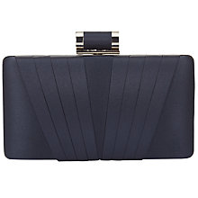 Buy Phase Eight Annie Satin Box Clutch Bag, Navy Online at johnlewis.com