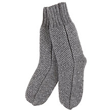 Buy Hygge by Mint Velvet Chunky Knit Slipper Socks Online at johnlewis.com