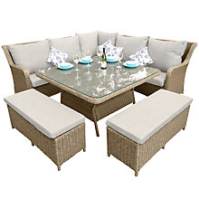 Buy LG Outdoor Saigon Heritage High Back Modular Dining Set, Natural Online at johnlewis.com