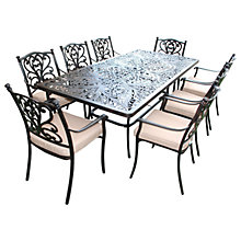 Buy LG Outdoor Devon 8 Seater Rectangular Dining Table & Chairs Set, Bronze Online at johnlewis.com