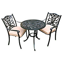 Buy LG Outdoor Devon Round Bistro Set, Bronze Online at johnlewis.com