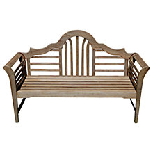 Buy LG Outdoor Hanoi Lutyens 2 Seater Bench, FSC-Certified (Karrigum), Natural Online at johnlewis.com