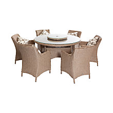 Buy LG Outdoor Saigon Heritage 6-Seater Low Back Dining Set, Natural Online at johnlewis.com