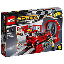 Buy LEGO Speed Champions 75882 Ferrari FXX K & Development Center Online at johnlewis.com